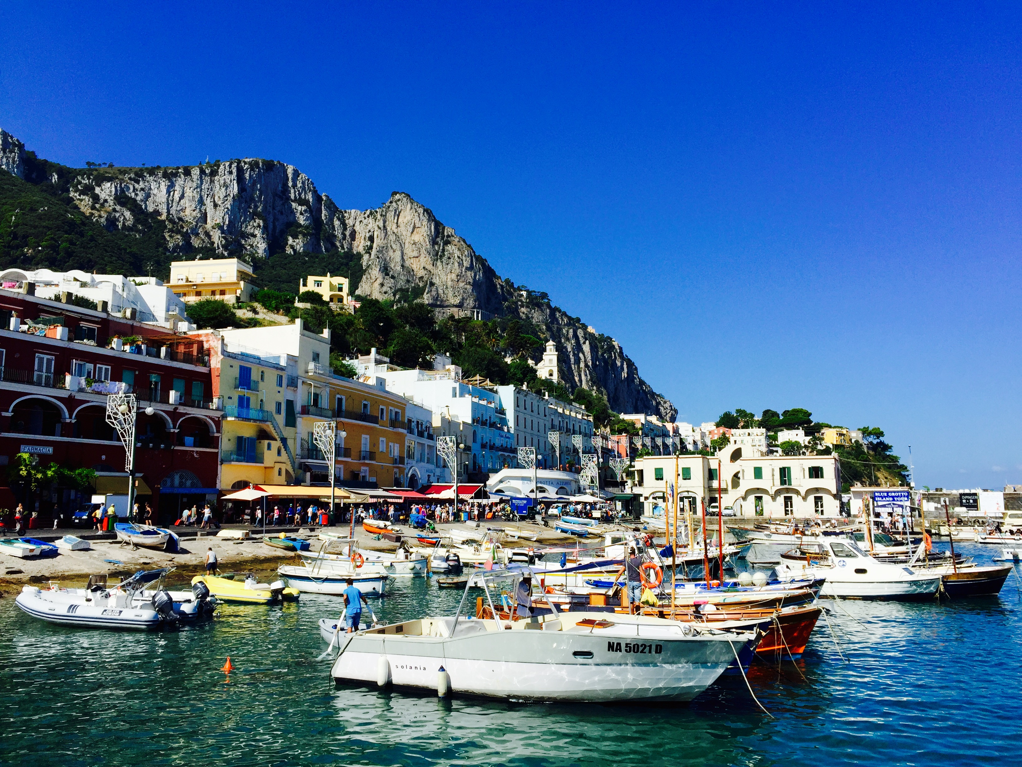 Beautiful and Vibrant Colors of Capri, Campania, Italy