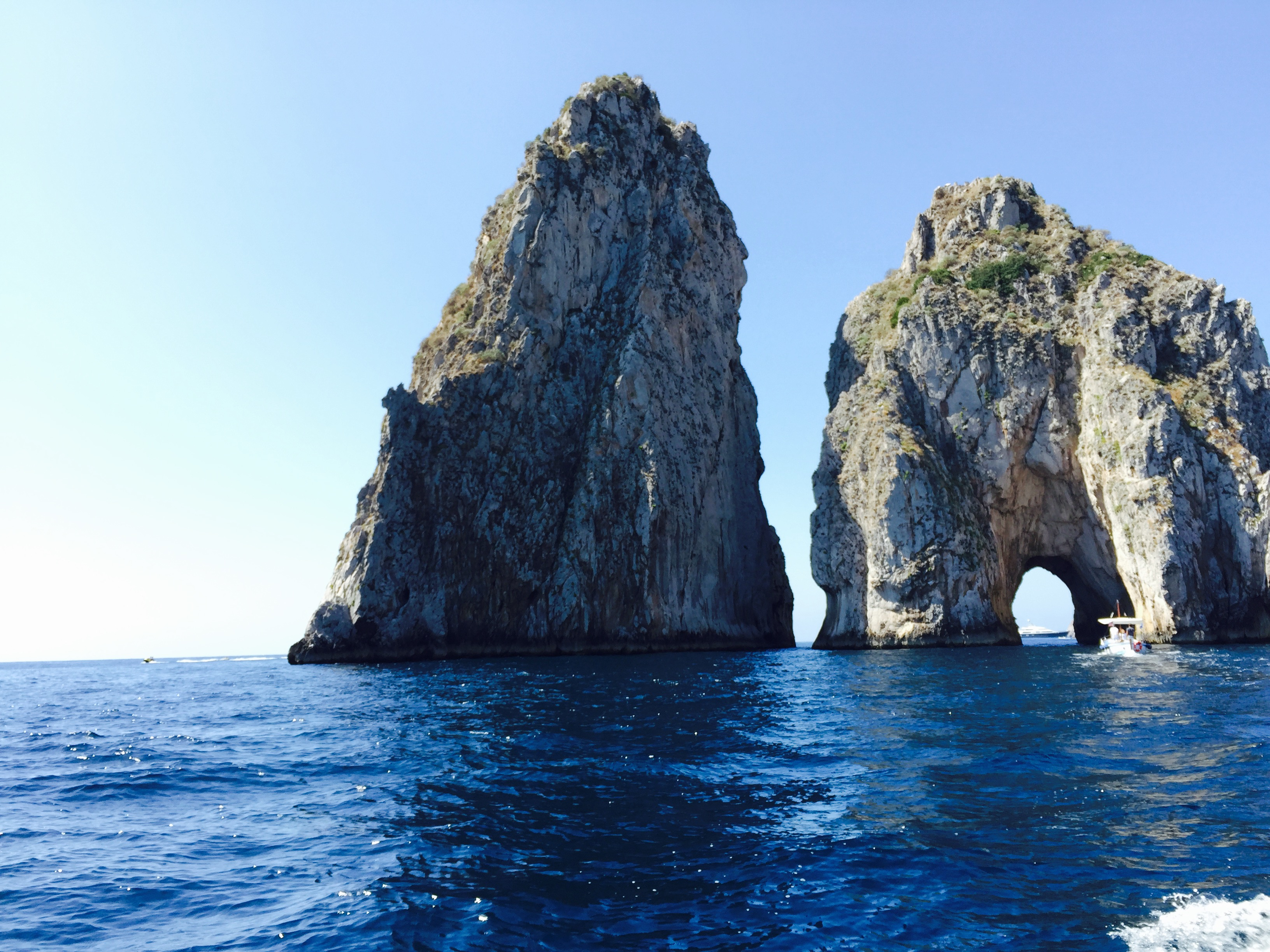 The Incredible Faraglioni Rocks in Capri, Campania, Italy