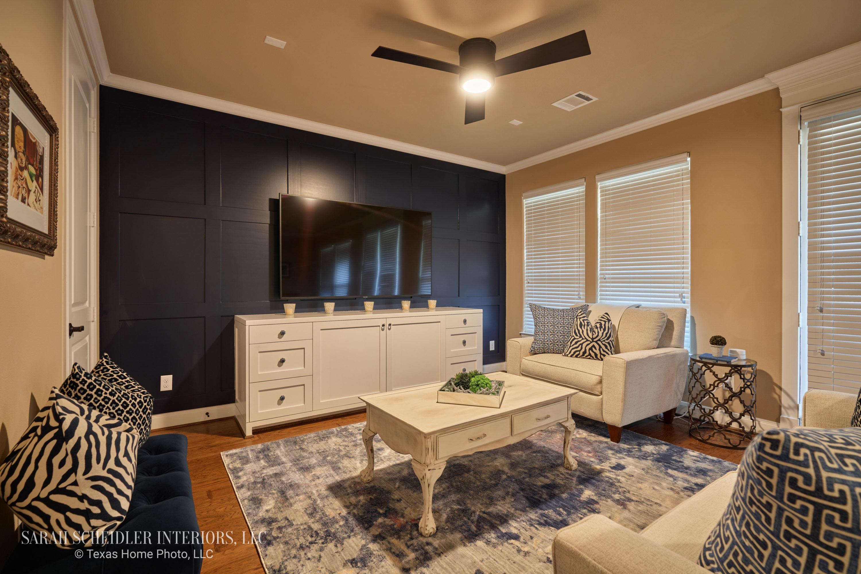 Blue and White Gameroom Design
