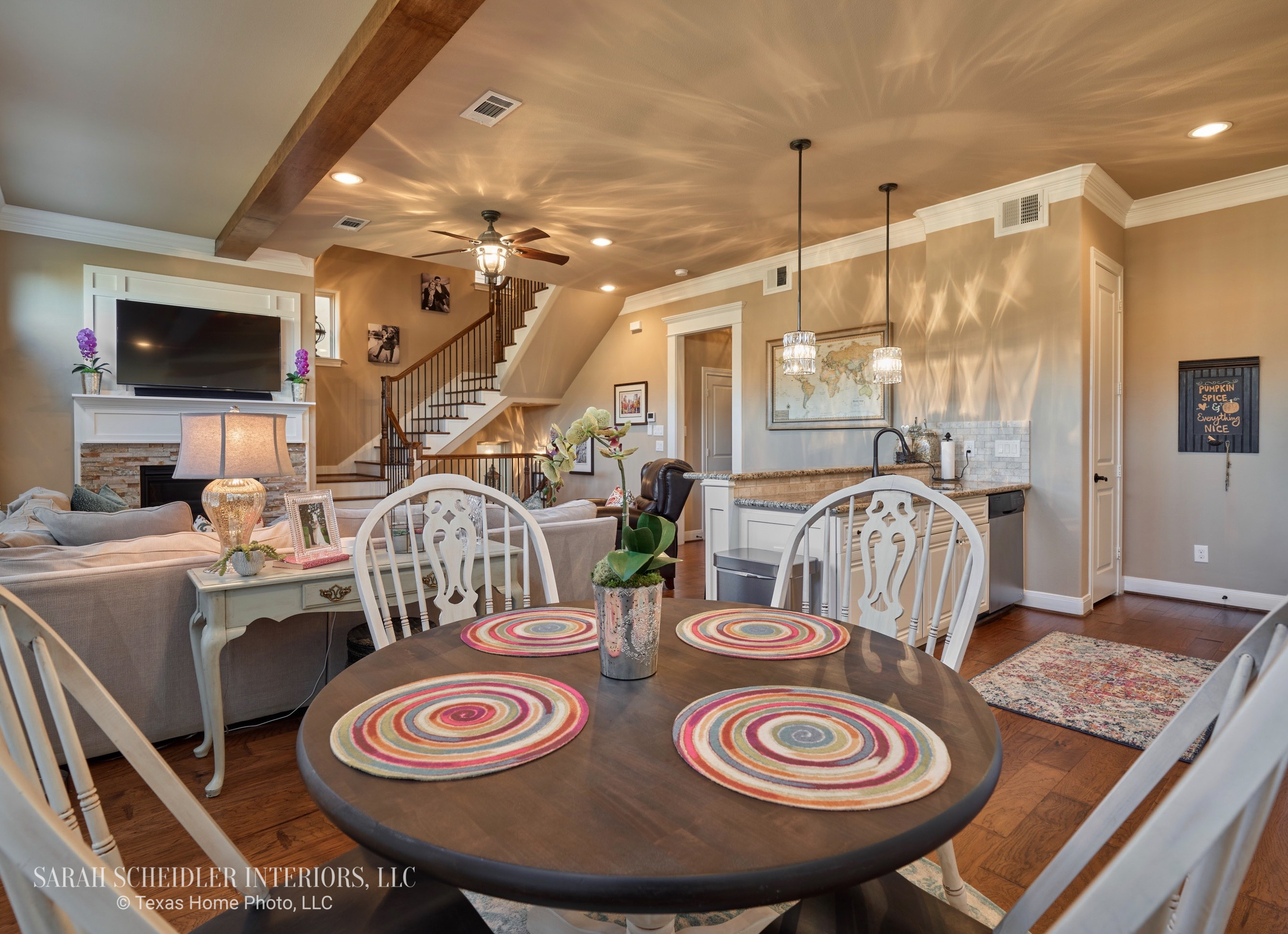 Open-Concept Kitchen to Living Room Design