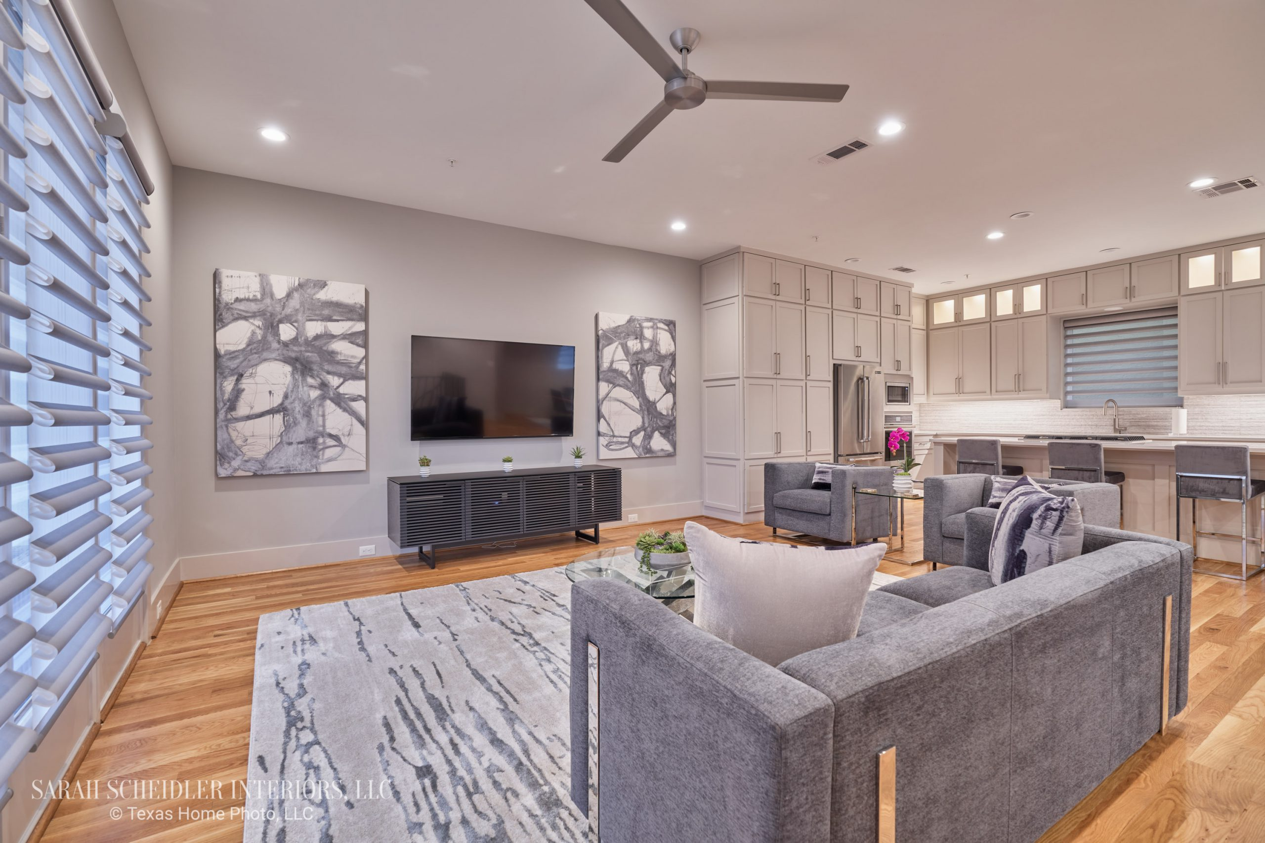 Modern Open-Concept Living Room and Kitchen Designs