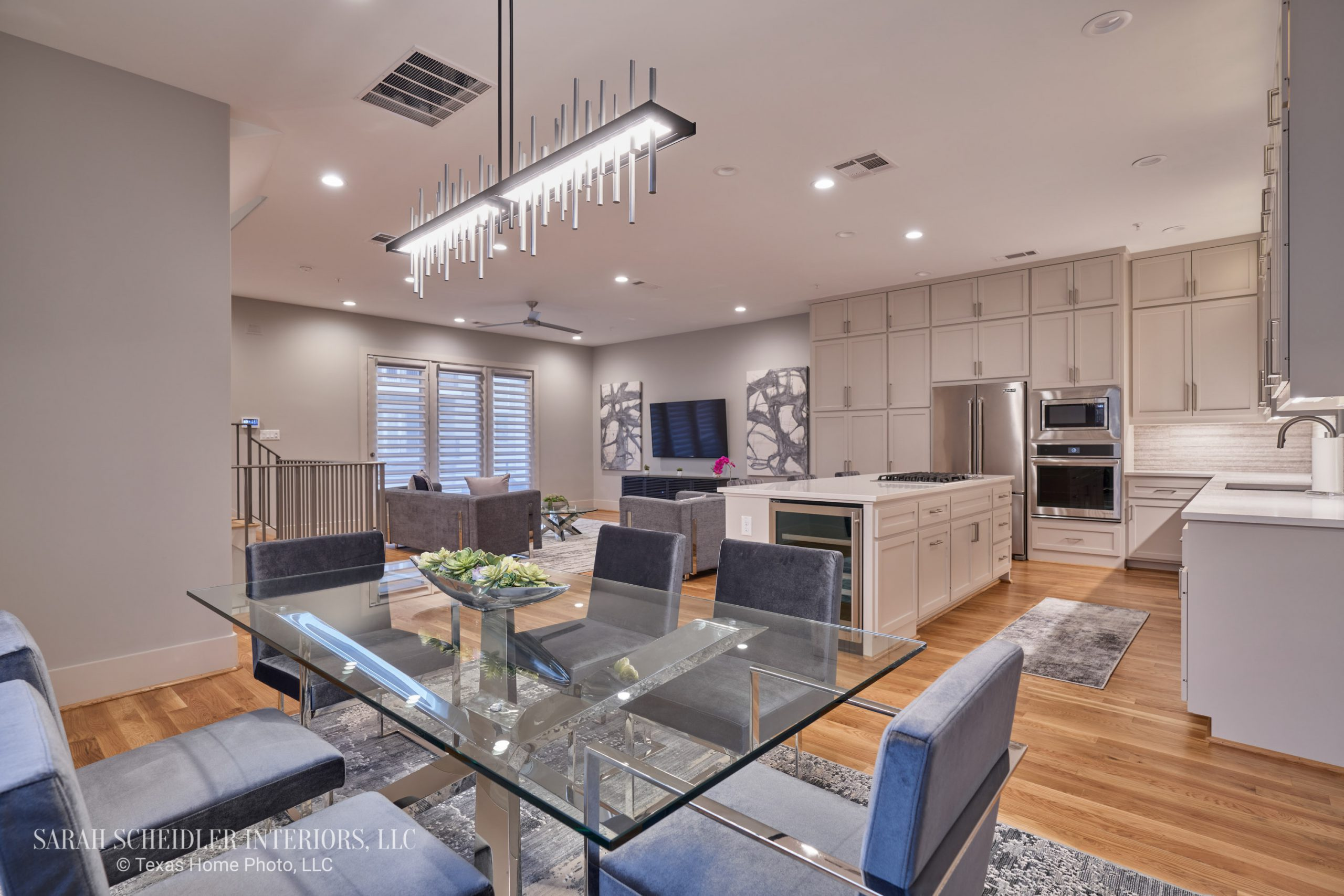 Modern Open-Concept Dining Room, Kitchen, and Living Room Designs