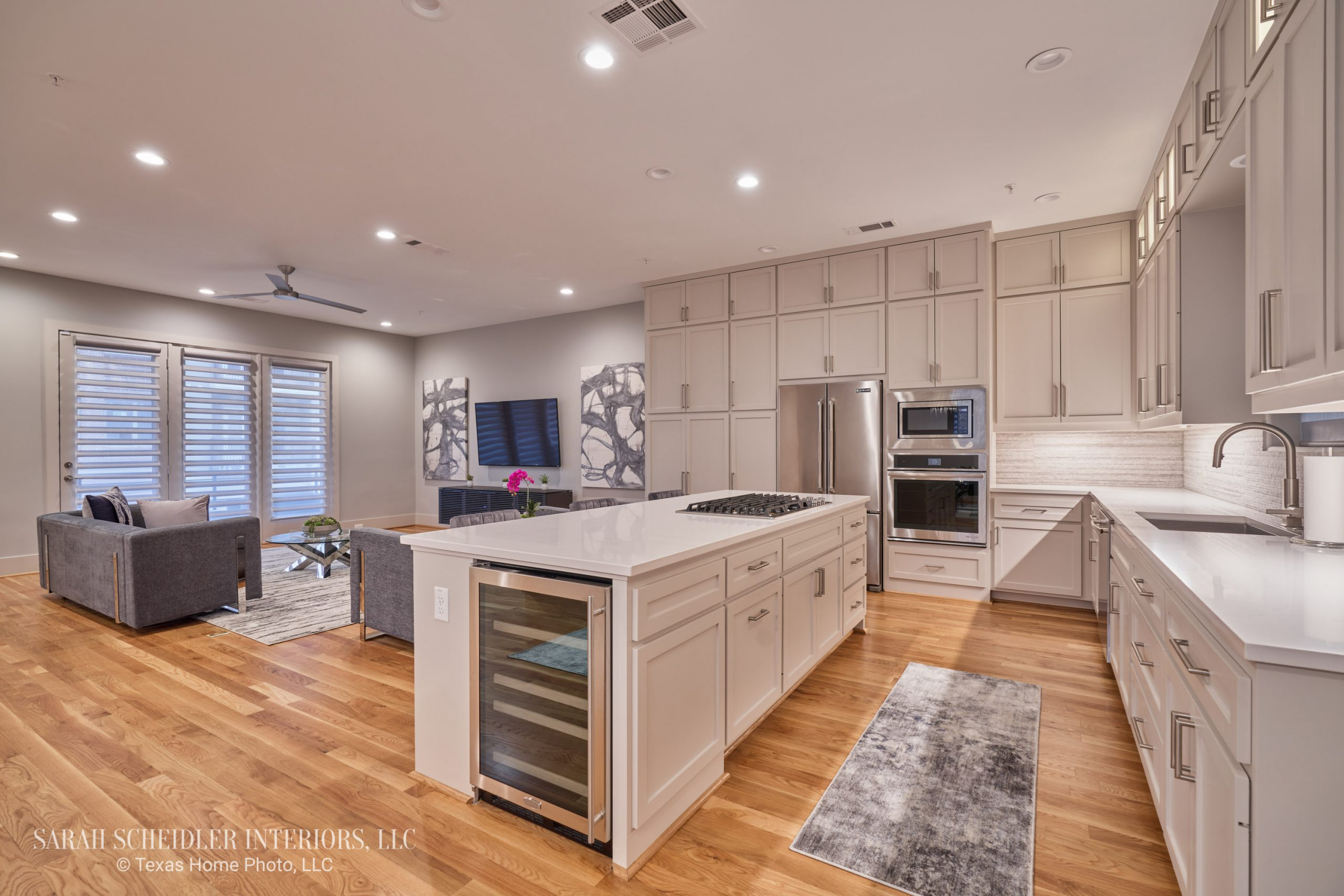 Modern Open-Concept Kitchen and Living Room Designs