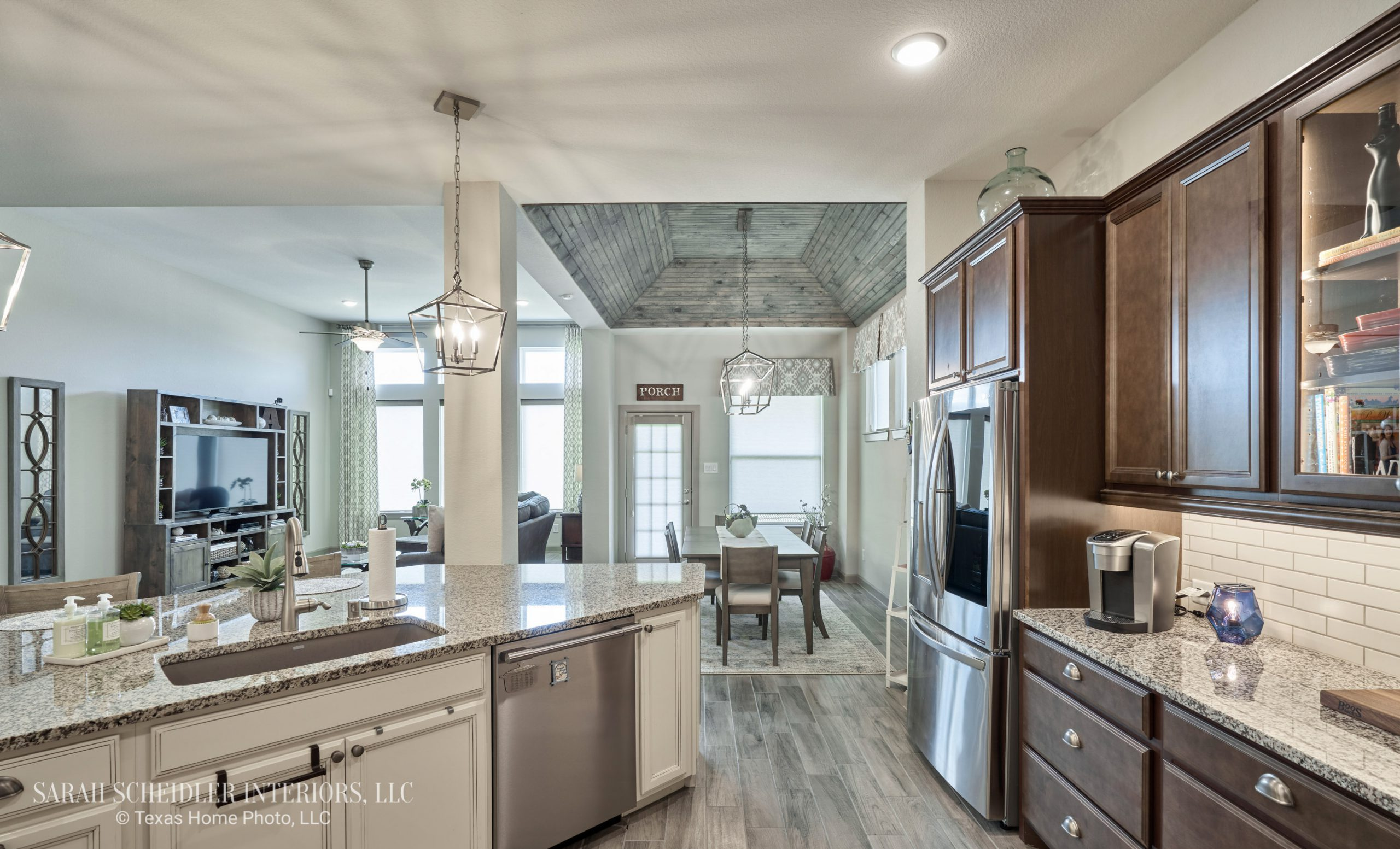 Open-Concept Kitchen, Dining Room, and Living Room Design